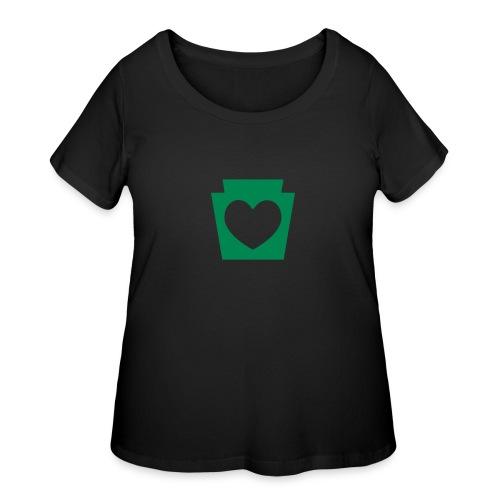 Love/Heart PA Keystone - Women's Curvy T-Shirt