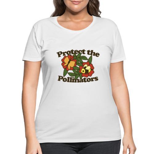 Protect the pollinators - Women's Curvy T-Shirt