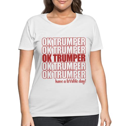 OK trumper - Women's Curvy T-Shirt