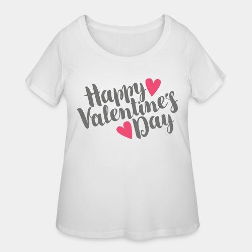 valentine day love - Women's Curvy T-Shirt