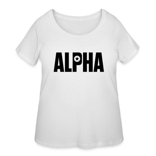 ALPHA - Women's Curvy T-Shirt