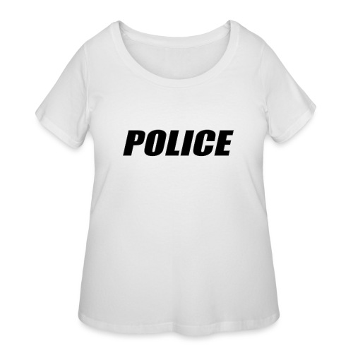 Police Black - Women's Curvy T-Shirt