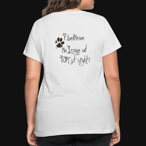 Love at Furst - Women's Curvy T-Shirt