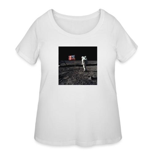 buzzAldrin jpg - Women's Curvy T-Shirt