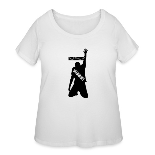 warrior shirt front - Women's Curvy T-Shirt