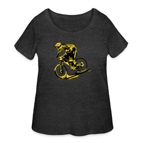 DH Freak - Mountain Bike Hoodie - Women's Curvy T-Shirt
