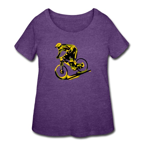 DH Freak - Mountain Bike Hoodie - Women's Curvy T-Shirt