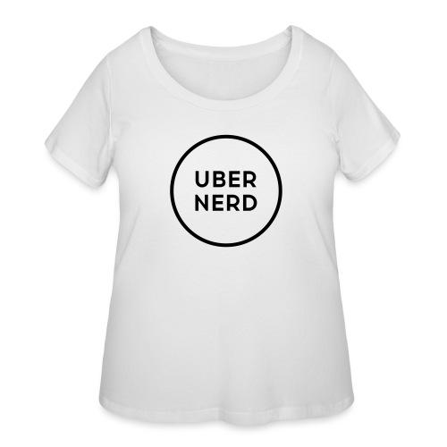 uber nerd logo - Women's Curvy T-Shirt