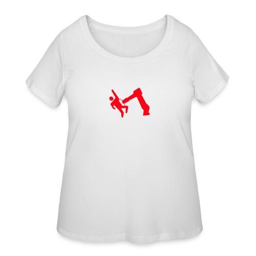 Robot Wins - Women's Curvy T-Shirt