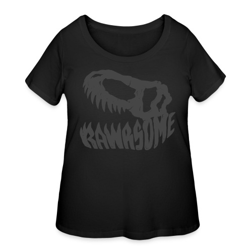 RAWRsome T Rex Skull by Beanie Draws - Women's Curvy T-Shirt
