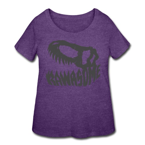 RAWRsome T Rex Skull by Beanie Draws - Women's Curvy T-Shirt