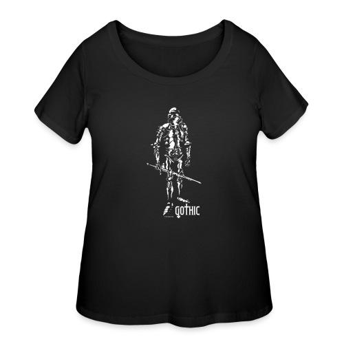 Gothic Knight Men's Standard Black T-shirt - Women's Curvy T-Shirt
