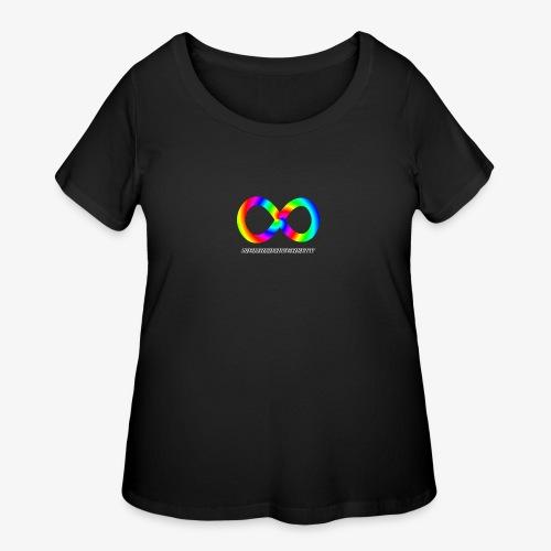 Neurodiversity with Rainbow swirl - Women's Curvy T-Shirt