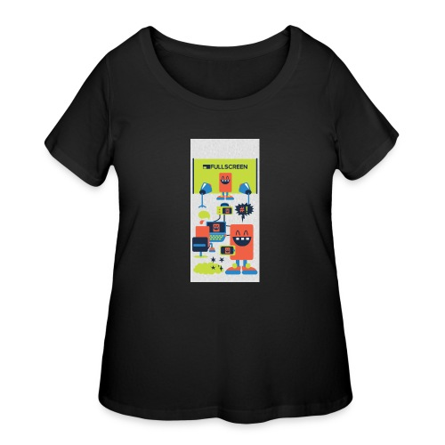 iphone5screenbots - Women's Curvy T-Shirt
