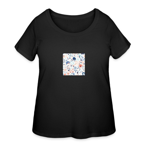 flowers - Women's Curvy T-Shirt