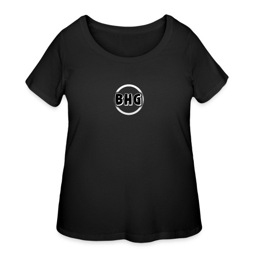 My YouTube logo with a transparent background - Women's Curvy T-Shirt