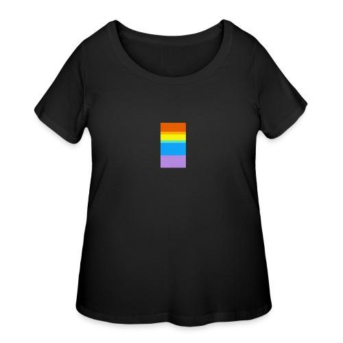 Modern Rainbow - Women's Curvy T-Shirt