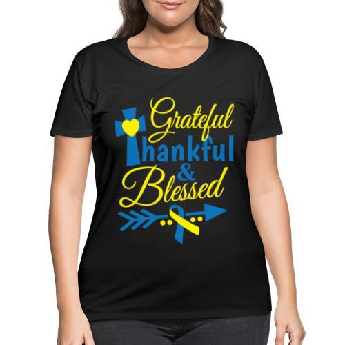 Grateful, Thankful & Blessed - Women's Curvy T-Shirt