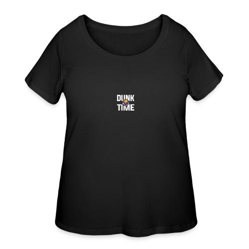 DUNKTIME Simple Logo - Women's Curvy T-Shirt
