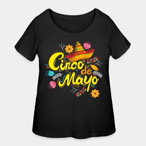 cinco mayo viva mexico - Women's Curvy T-Shirt