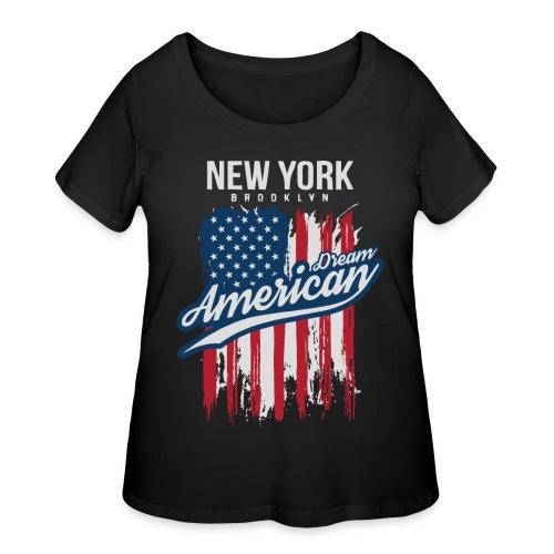 nyc new york brooklyn - Women's Curvy T-Shirt