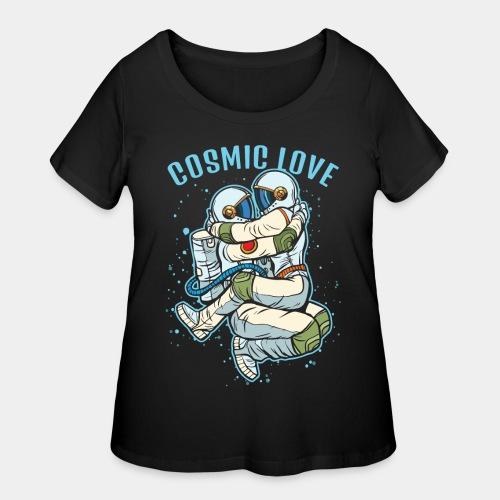 cosmic love astronaut space - Women's Curvy T-Shirt
