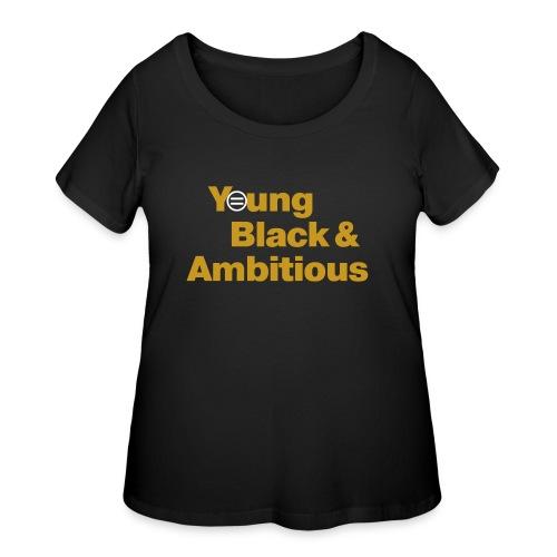 YBA Black and Gold Shirt2 - Women's Curvy T-Shirt