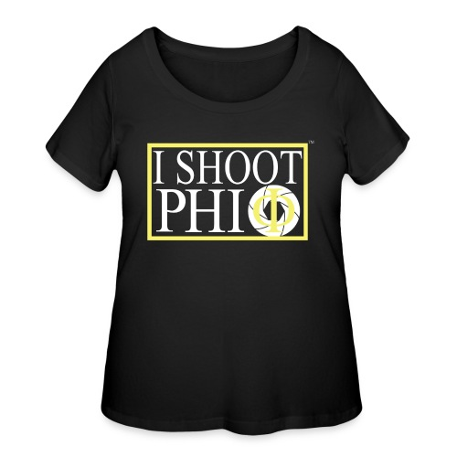 i shoot phi camera - Women's Curvy T-Shirt
