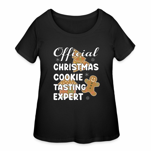 Funny Official Christmas Cookie Tasting Expert. - Women's Curvy T-Shirt