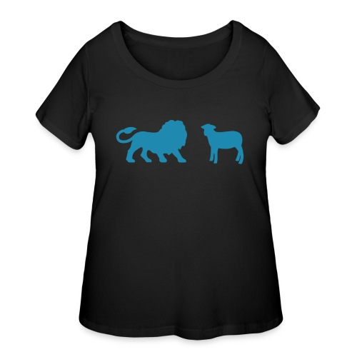 Lion and the Lamb - Women's Curvy T-Shirt
