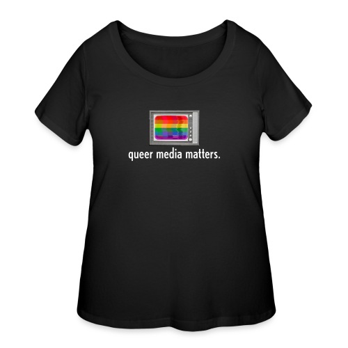 Queer Media Logo in Expanded Sizes - Women's Curvy T-Shirt