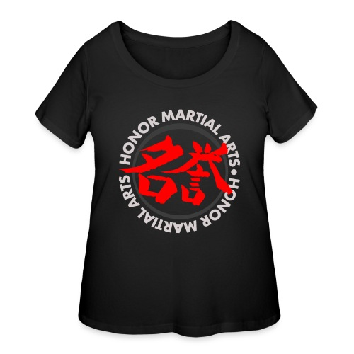 Honor Martial Arts Kanji Design Light Shirts - Women's Curvy T-Shirt