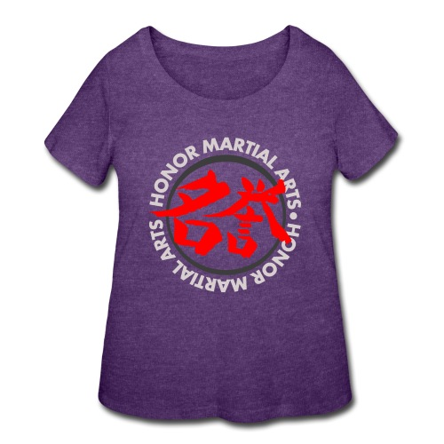 Honor Martial Arts Kanji Design Light Shirts - Women's Curvy T-Shirt