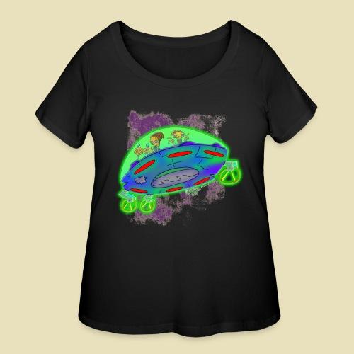 Ongher's UFO Flying Saucer - Women's Curvy T-Shirt