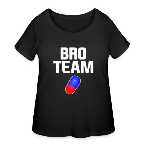Bro Team White Words Logo Women's T-Shirts - Women's Curvy T-Shirt
