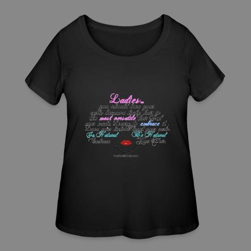 Afro Text - Women's Curvy T-Shirt