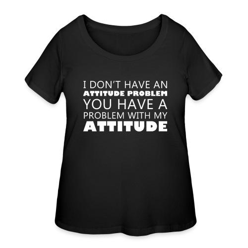attitude - Women's Curvy T-Shirt