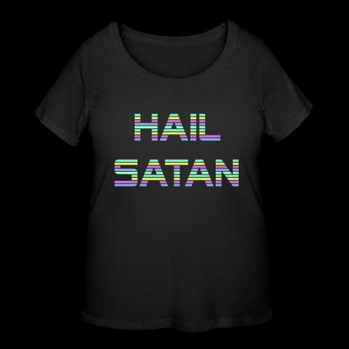 Hail Satan - Vaporwave - Women's Curvy T-Shirt