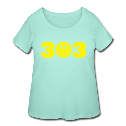 3 Smiley 3 - Women's Curvy T-Shirt