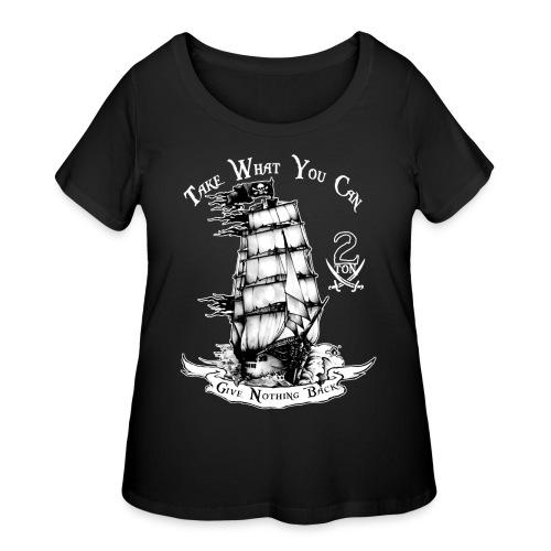 2ton Pyrates - Women's Curvy T-Shirt