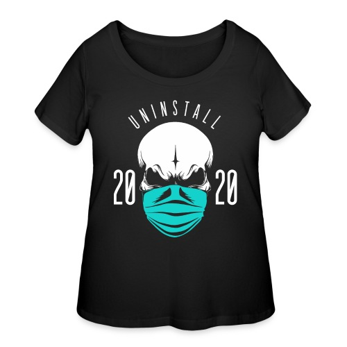 uninstall 2020 - Women's Curvy T-Shirt