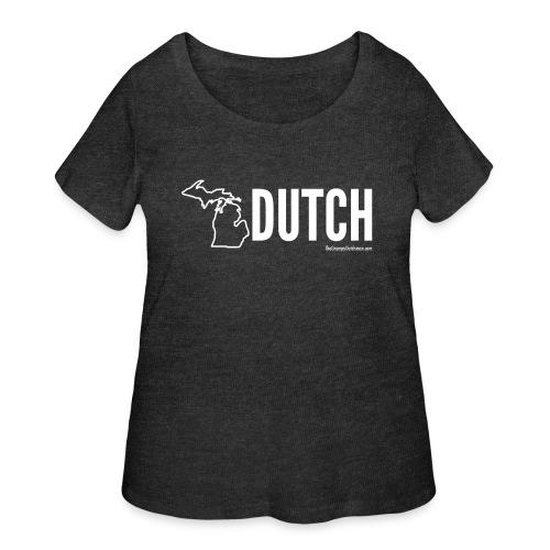 Michigan Dutch (white) - Women's Curvy T-Shirt