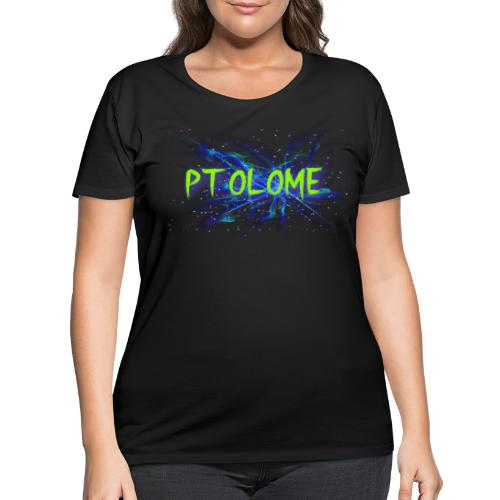 Ptolome Galaxy logo - Women's Curvy T-Shirt