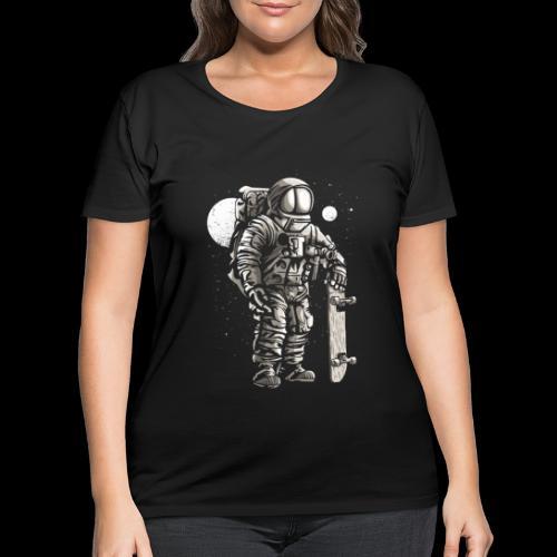 Spaceman Skater - Women's Curvy T-Shirt