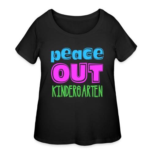 Kreative In Kinder Peace Out - Women's Curvy T-Shirt