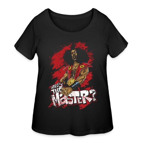 Who's The Master? - Women's Curvy T-Shirt