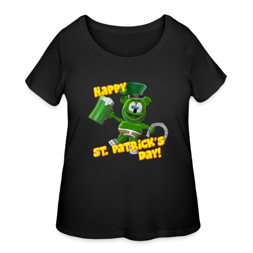 Gummibär (The Gummy Bear) Saint Patrick's Day - Women's Curvy T-Shirt