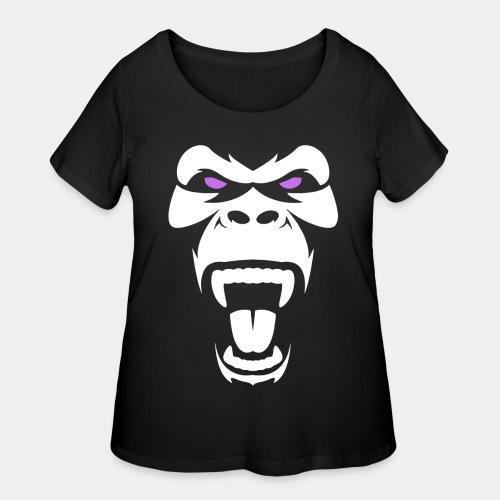 angry gorilla - Women's Curvy T-Shirt