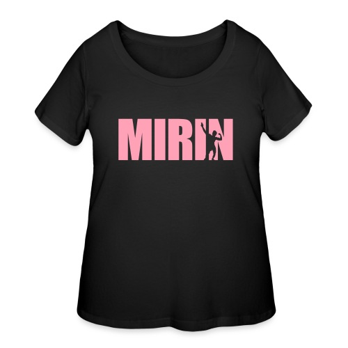 Zyzz Mirin Pose text - Women's Curvy T-Shirt