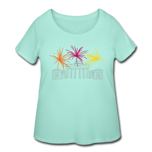 Newyearseve at Brandenburg Gate Berlin - Women's Curvy T-Shirt